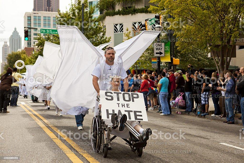 Angel Action Atlanta royalty-free stock photo
