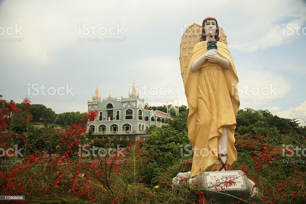 Angel and Church (Landscape) royalty-free stock photo