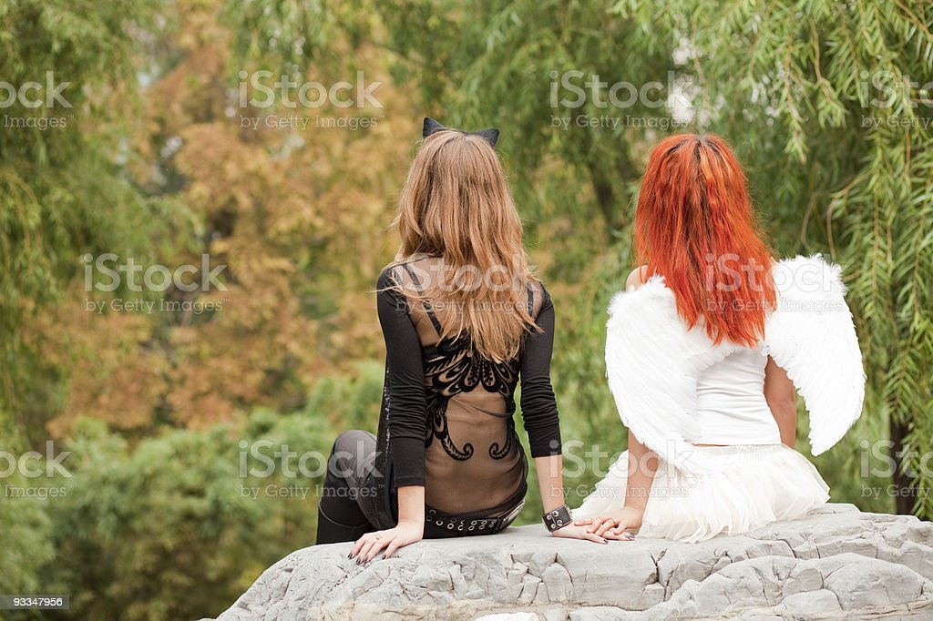 angel and demon royalty-free stock photo