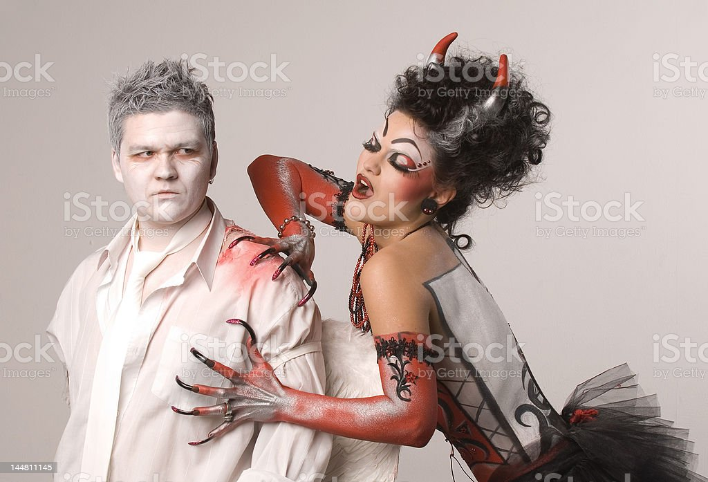 Angel and devil royalty-free stock photo