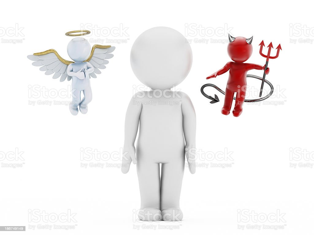Angel and the devil royalty-free stock photo