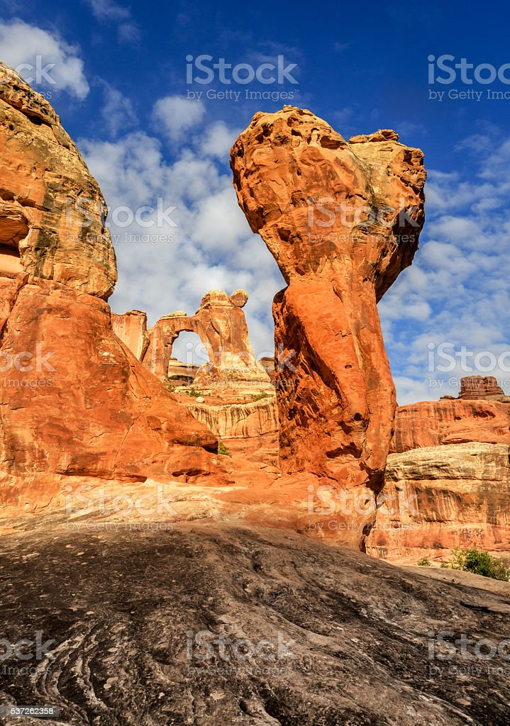Angel Arch with Molar Rock stock photo