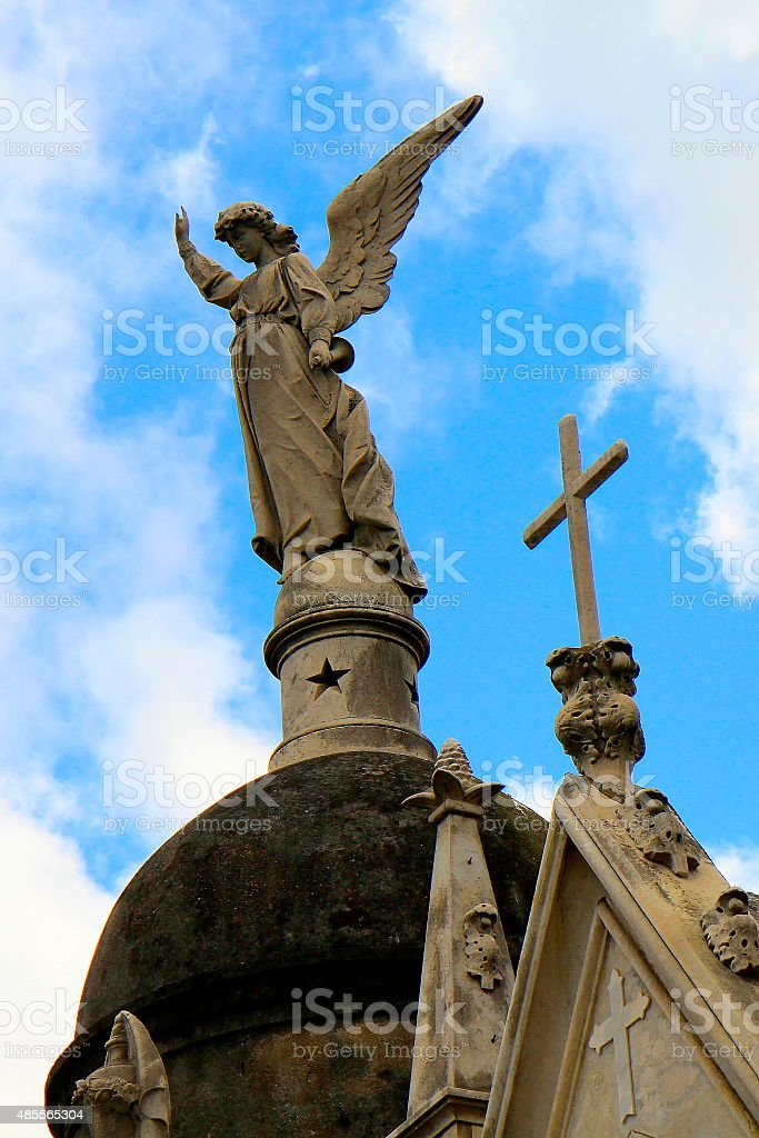 Angel at Cemetery Recoleta, Buenos Aires, Argentina - South America stock photo
