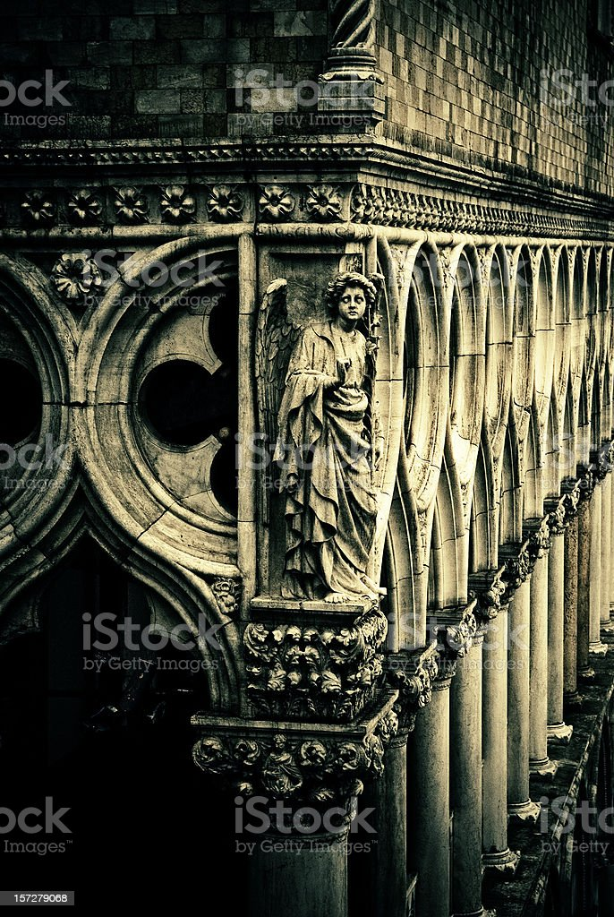 angel at doges palace stock photo