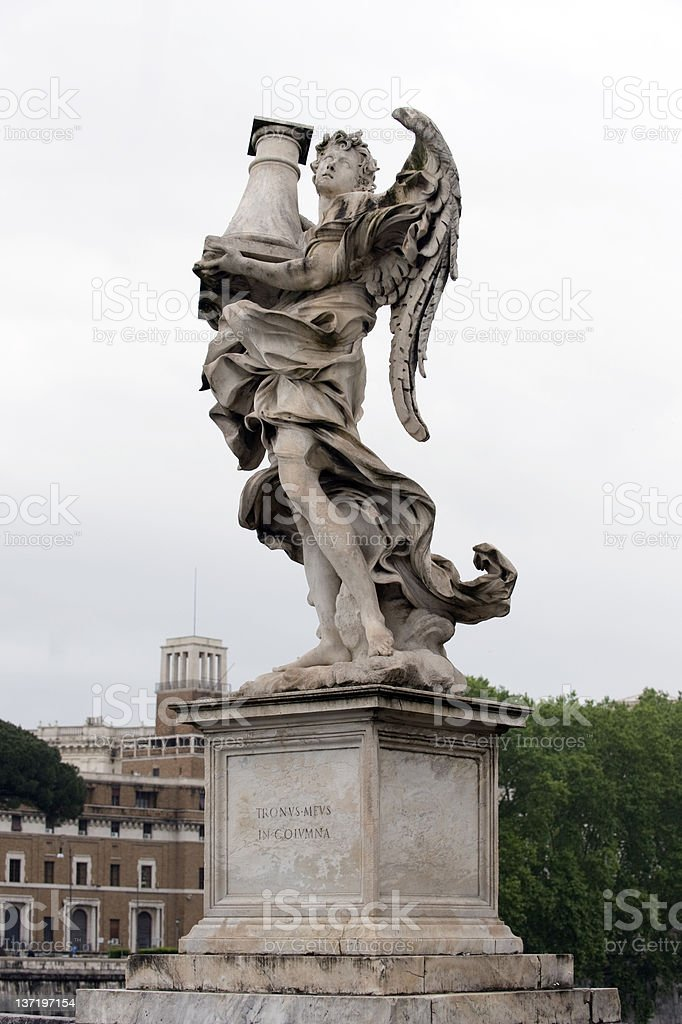Angel at ponte st. angelo, Rome stock photo