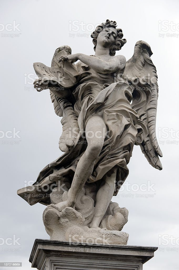 Angel at St. Angelo, Rome stock photo