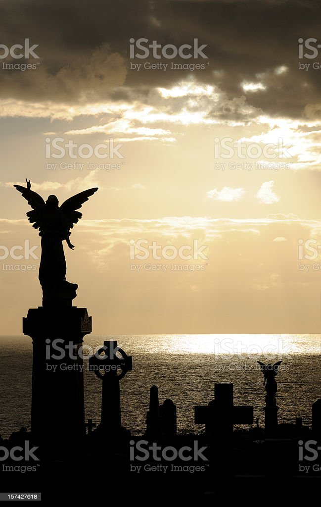 Angel at Sunrise royalty-free stock photo