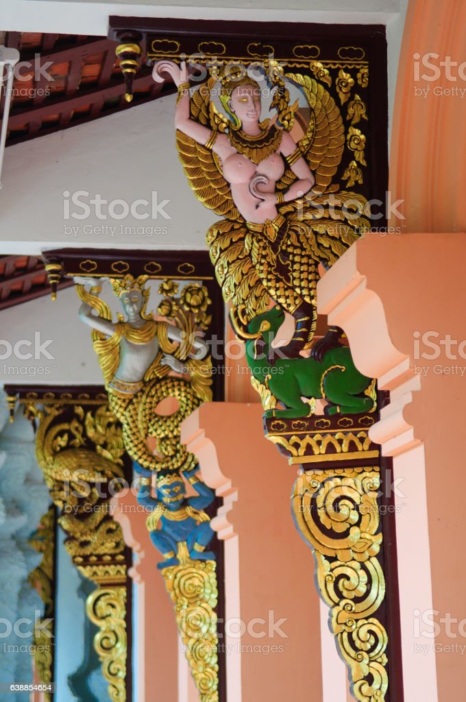 Angel at Wat Pha Dara Bhirom Temple stock photo