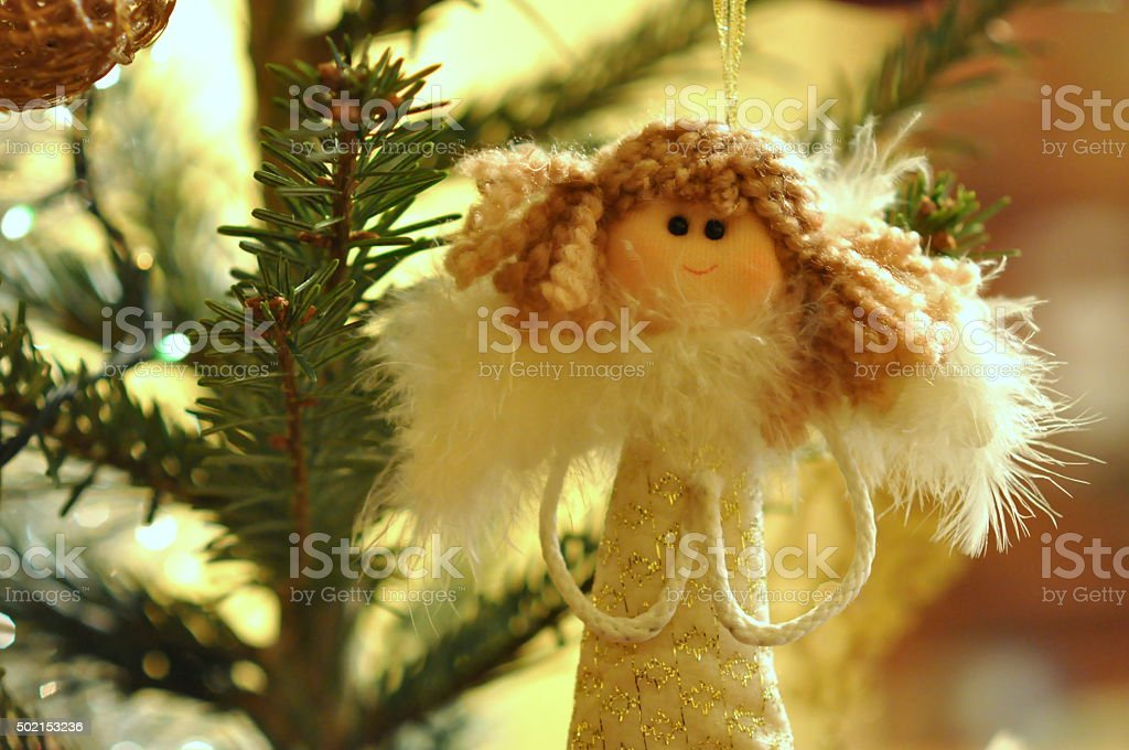 Angel bust - Christmass Tree decoration stock photo