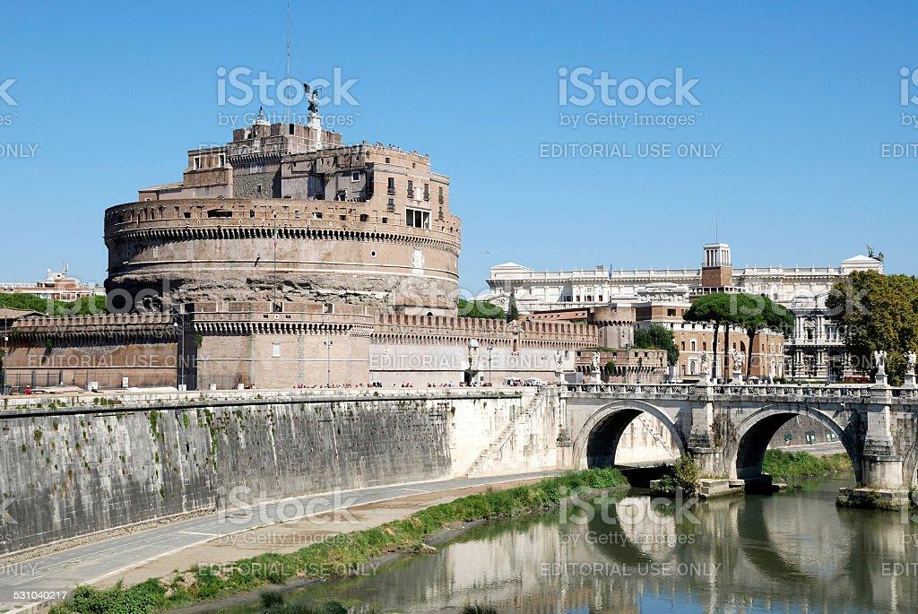Angel castle in Rome stock photo