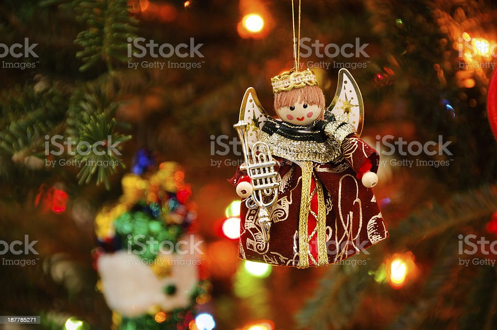 Angel Christmas Ornament royalty-free stock photo