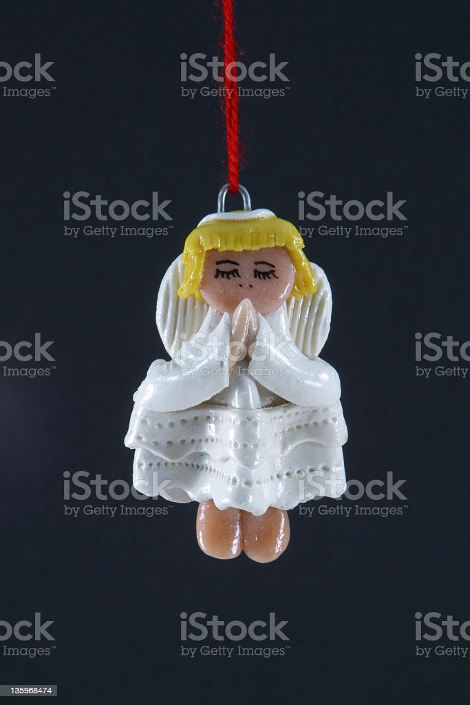 Angel Christmas Tree Ornament Isolated royalty-free stock photo