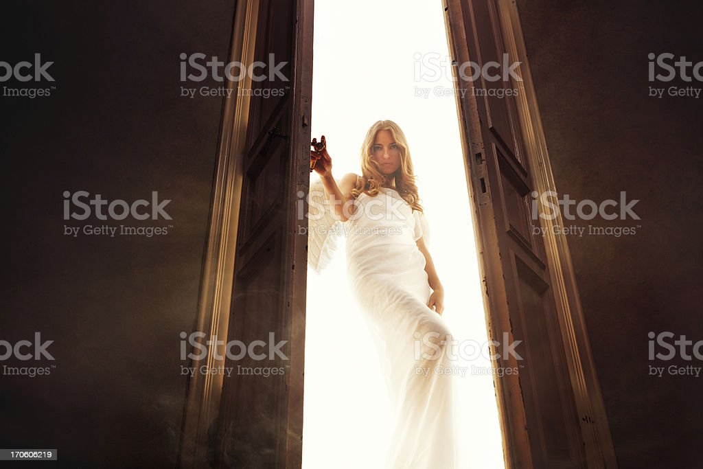 angel entering into the room royalty-free stock photo
