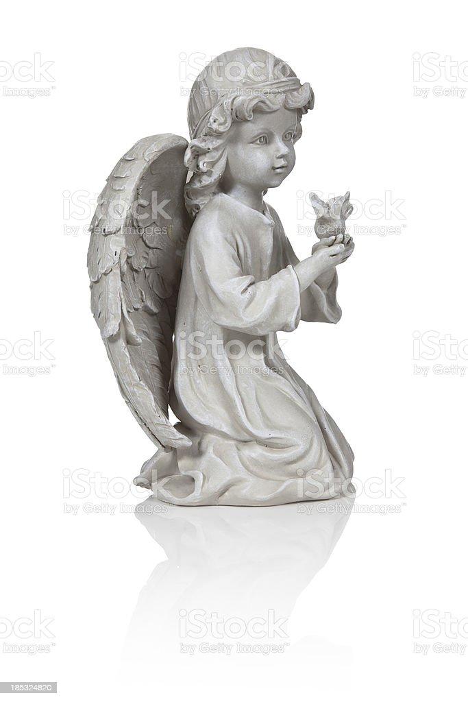 Angel Figurine Isolated royalty-free stock photo