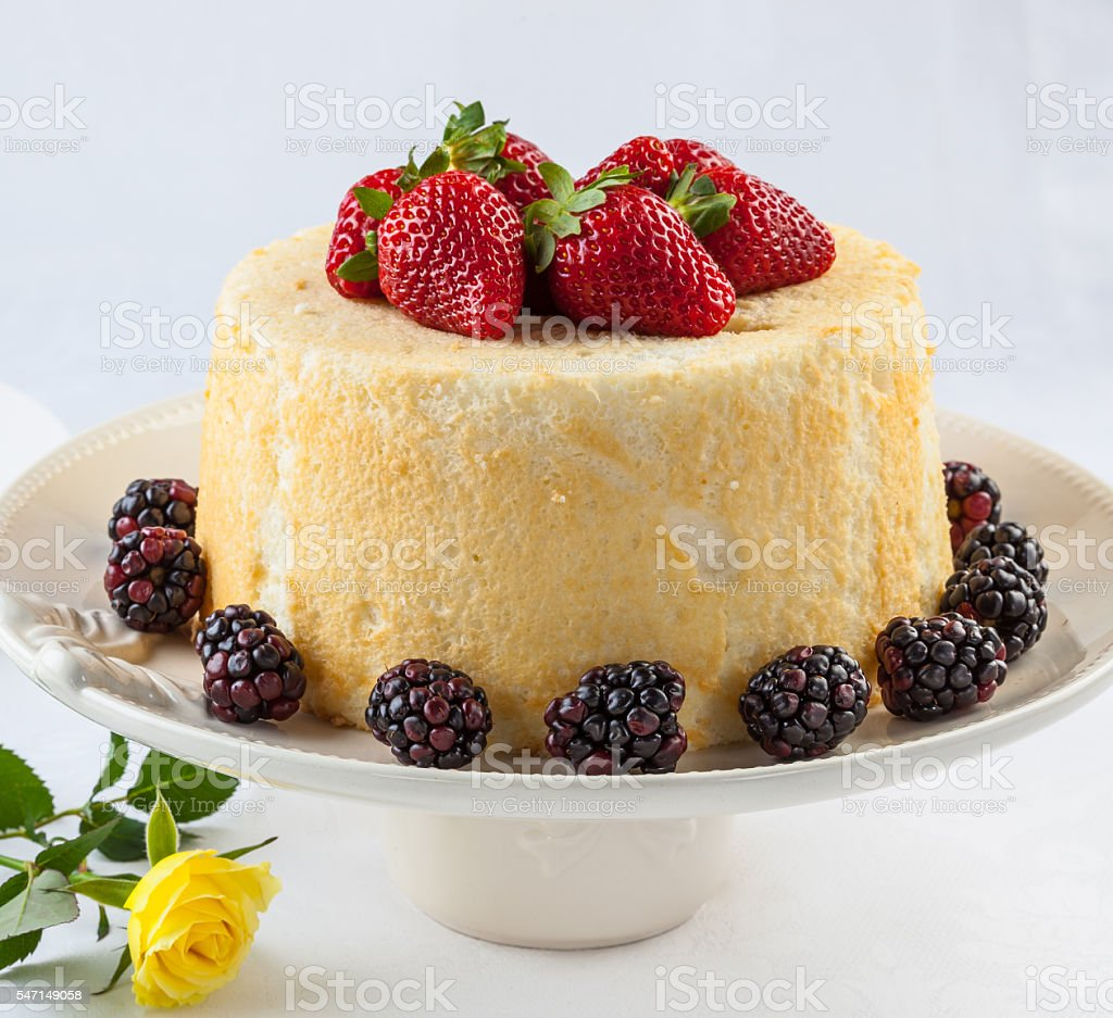 Angel food cake stock photo
