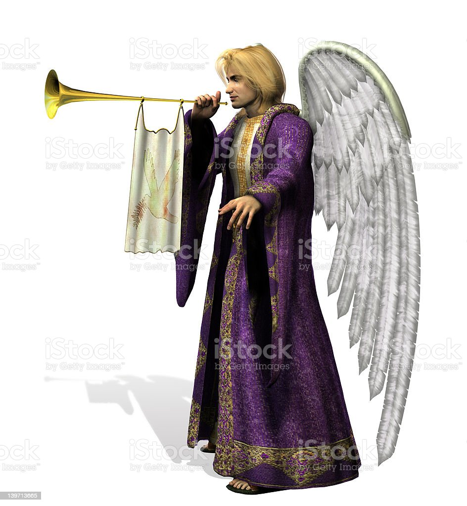 Angel Gabriel - with clipping path royalty-free stock photo