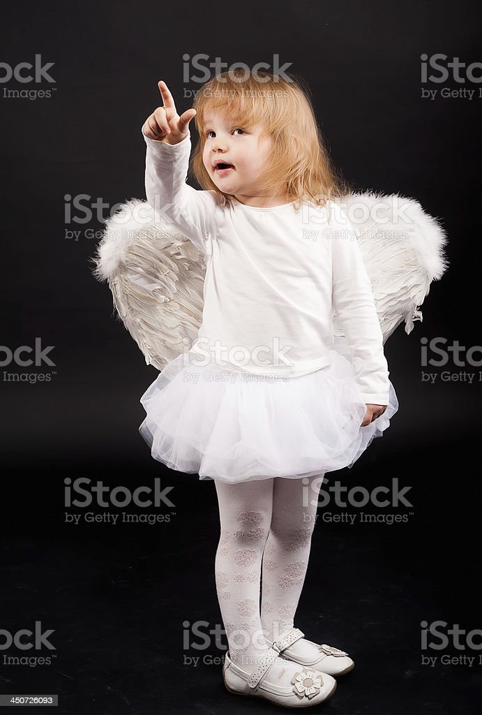 angel girl in white royalty-free stock photo