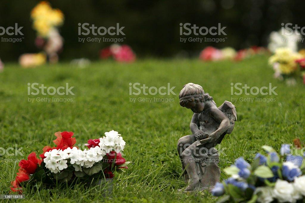 Angel Gravemarker royalty-free stock photo