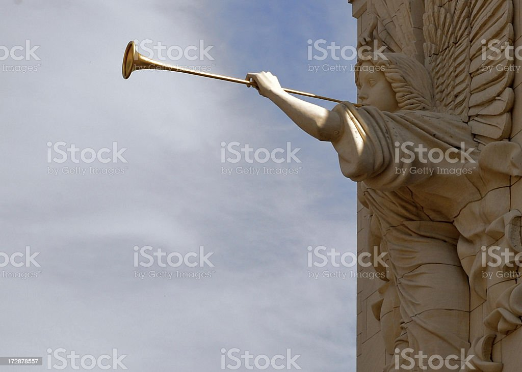 Angel Herald royalty-free stock photo