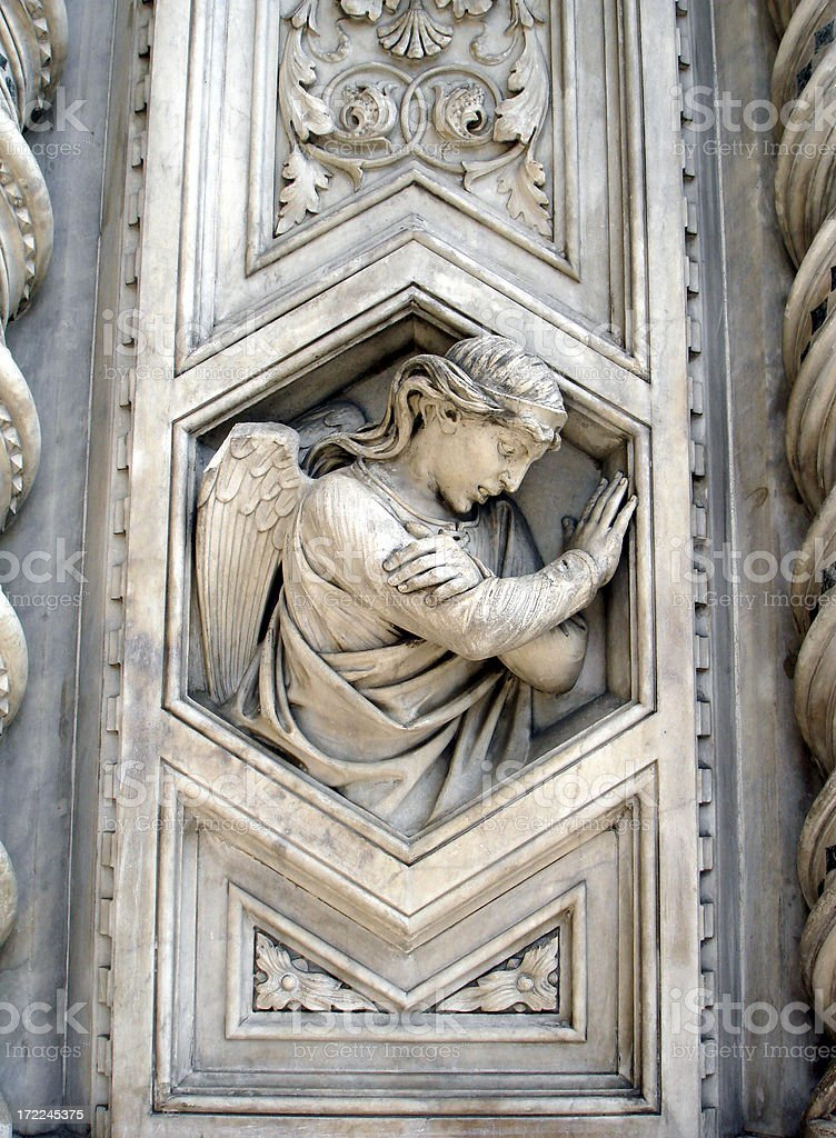 Angel in Architecture of Florence's Duomo II royalty-free stock photo