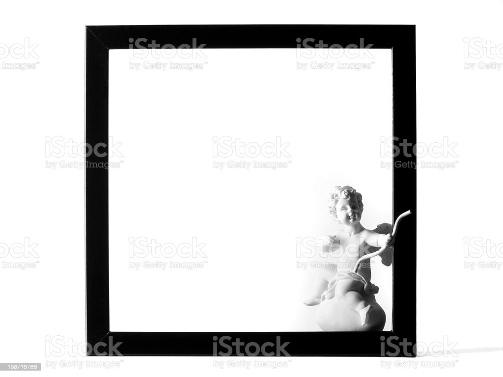 Angel in Frame Isolated on White royalty-free stock photo