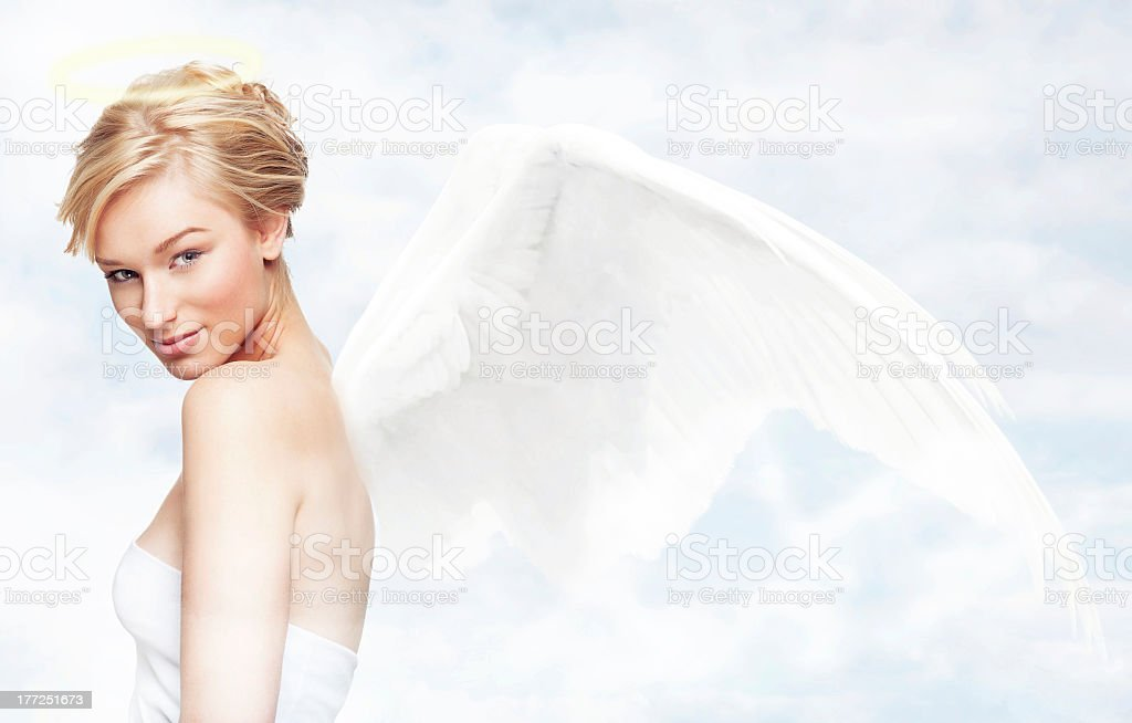 Angel in heaven royalty-free stock photo