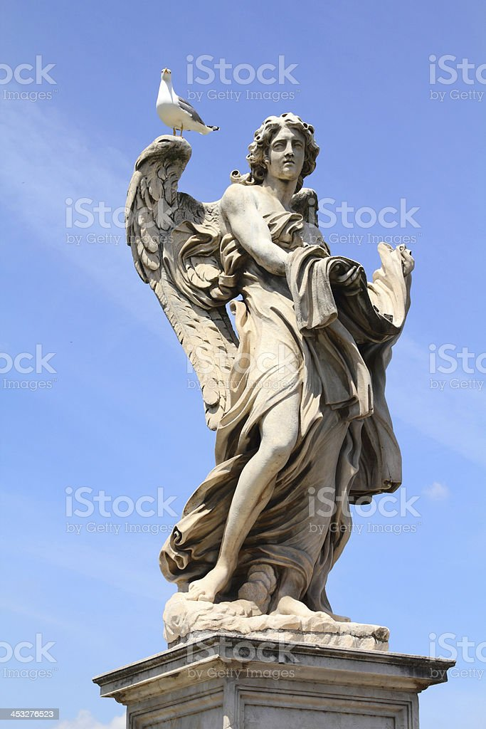 Angel in Rome, Italy royalty-free stock photo