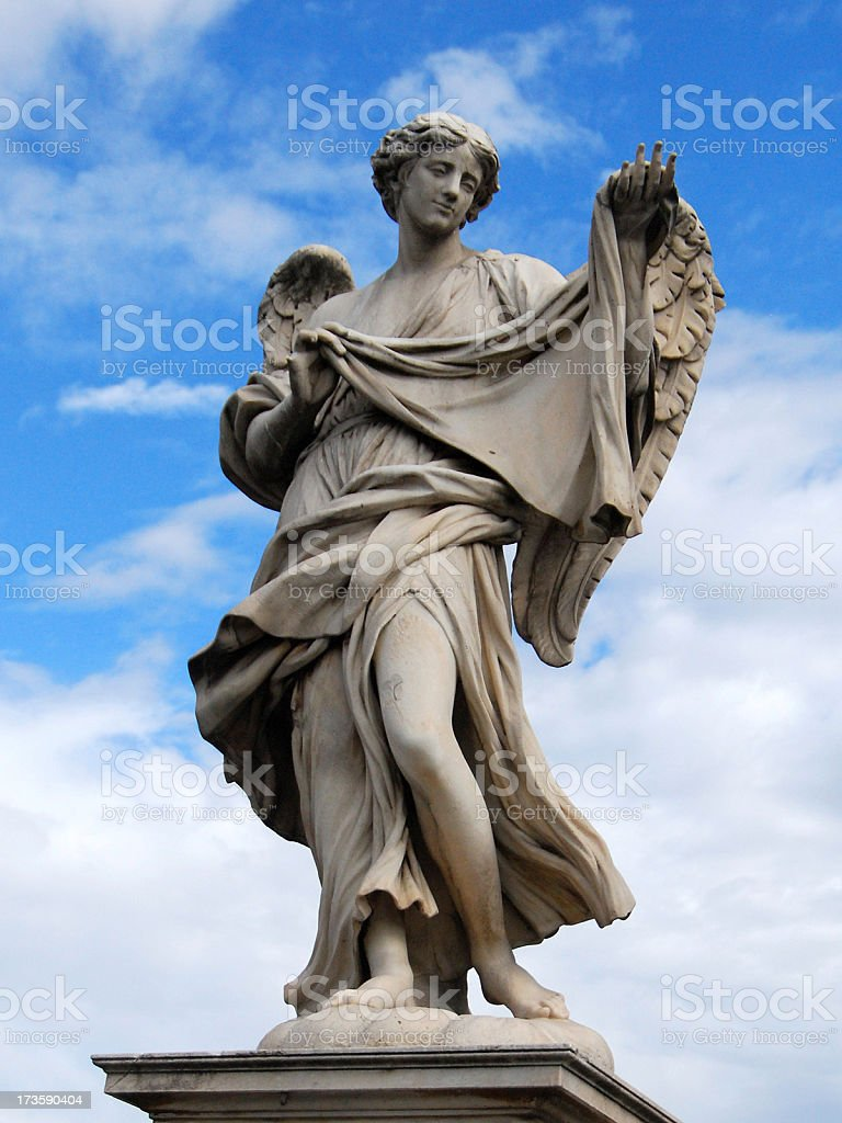 Angel in Rome royalty-free stock photo