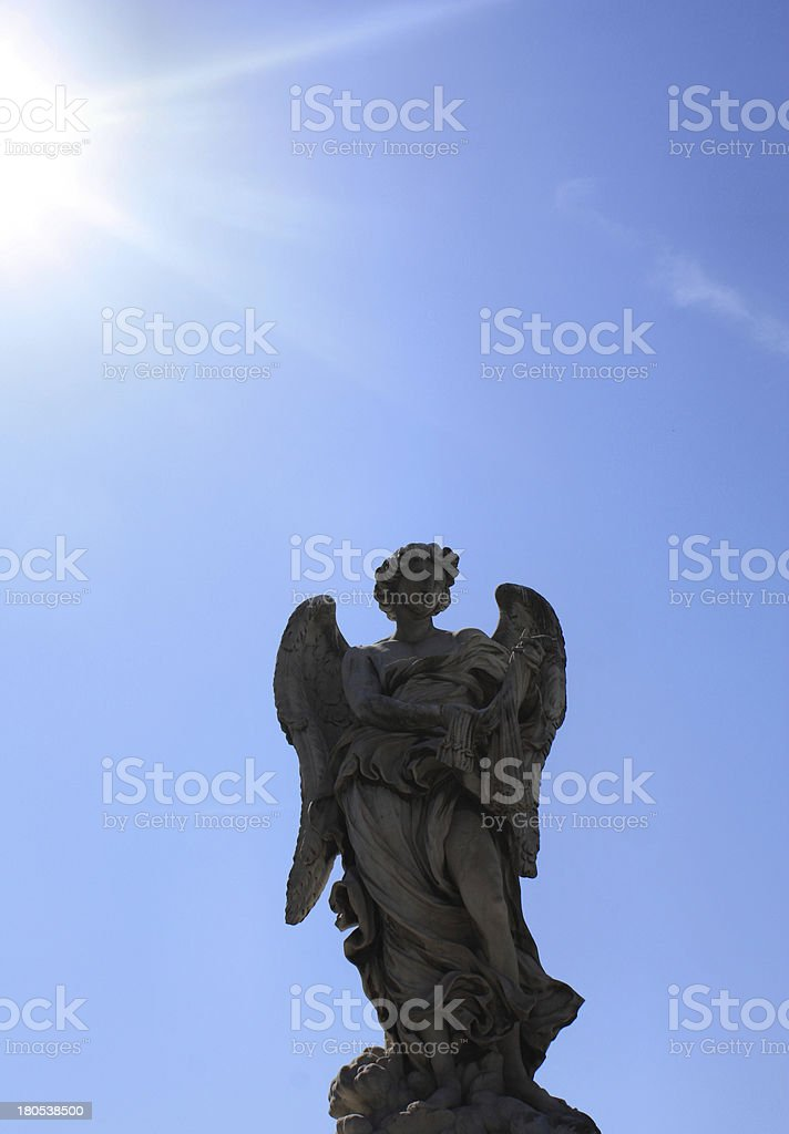 Angel in Rome stock photo