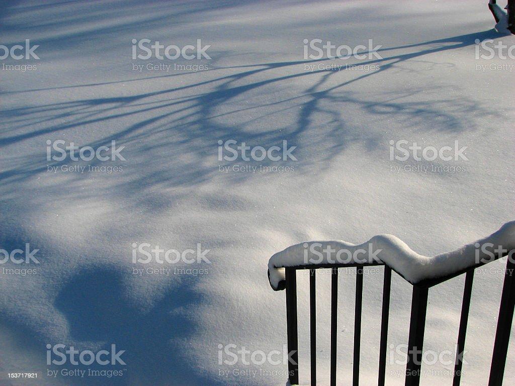 Angel in snow stock photo