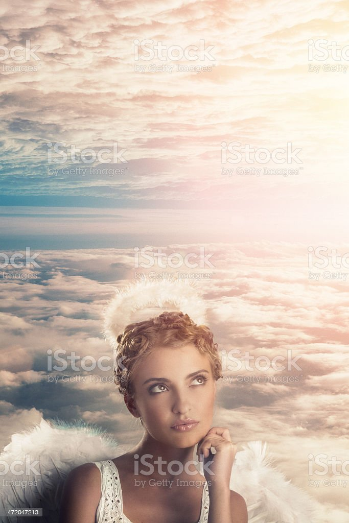 angel in the heaven stock photo