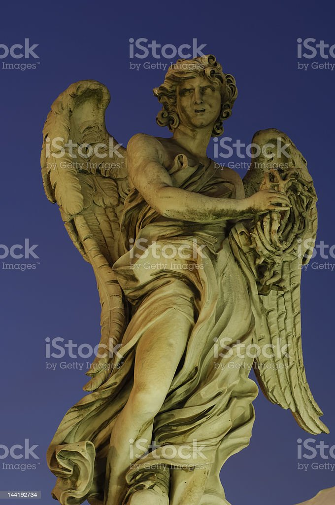 Angel in the night royalty-free stock photo