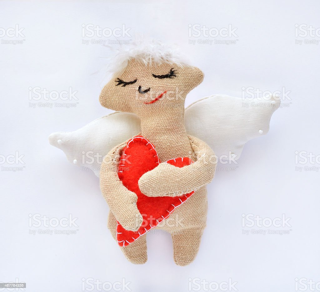 angel is a soft toy stock photo