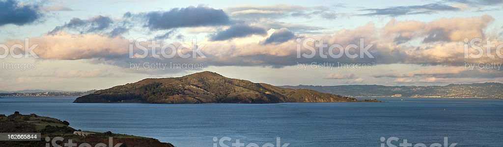 Angel Island and San Francisco Bay (XXL) royalty-free stock photo