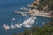 Angel Island Harbor at San Francisco, USA