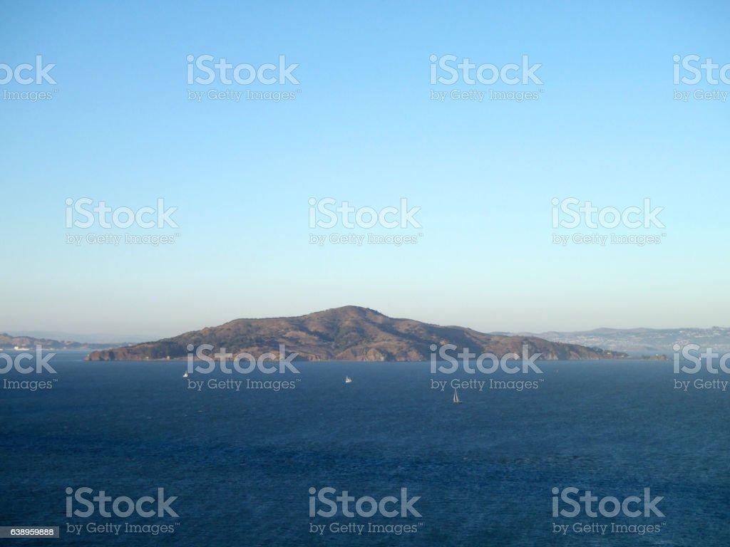 Angel Island in San Francisco Bay stock photo