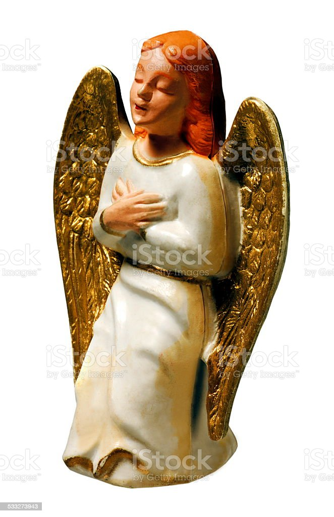 Angel Kneeing stock photo