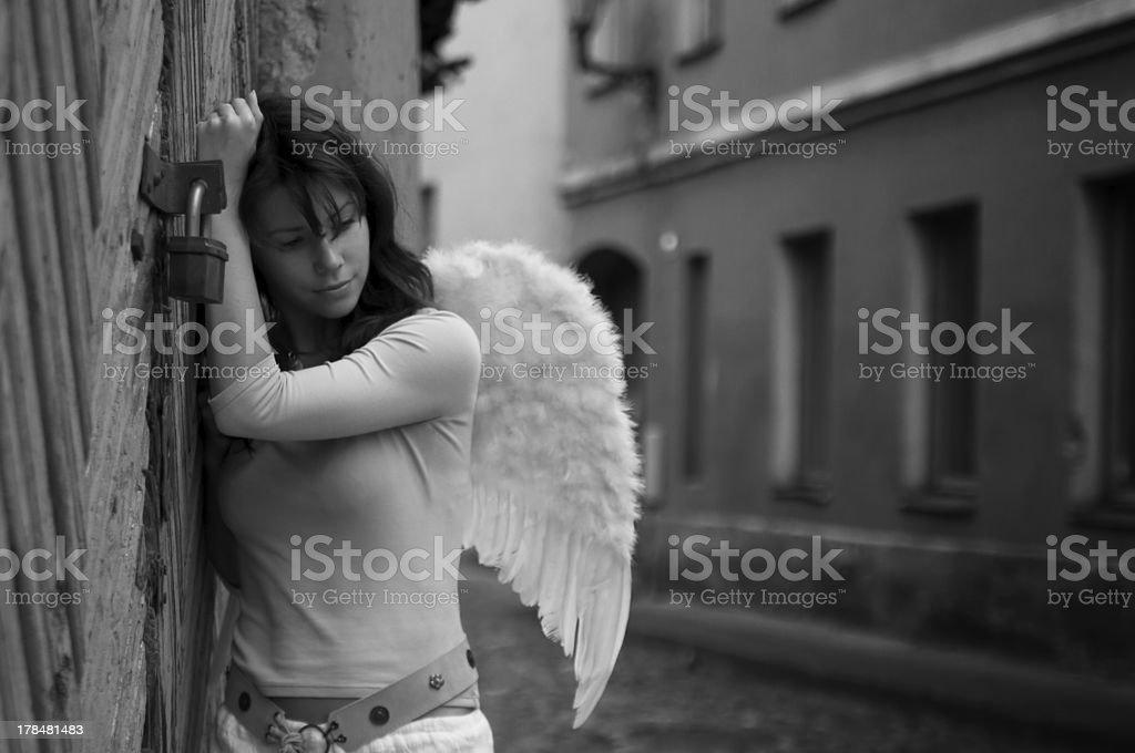 angel knocking on the heavens door royalty-free stock photo