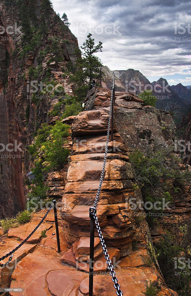 Angel Landing Trail in Zion National Park,Utah royalty-free stock photo