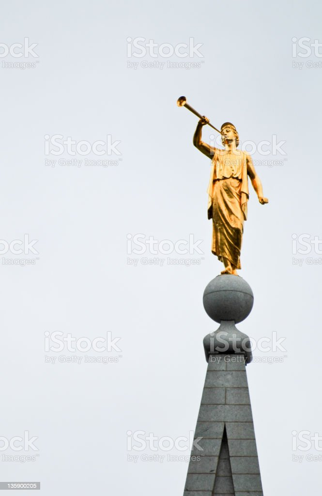 Angel Moroni stock photo