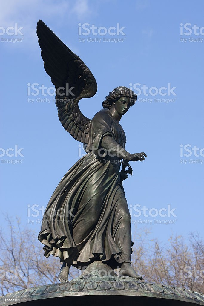 Angel of Bethesda Fountain stock photo
