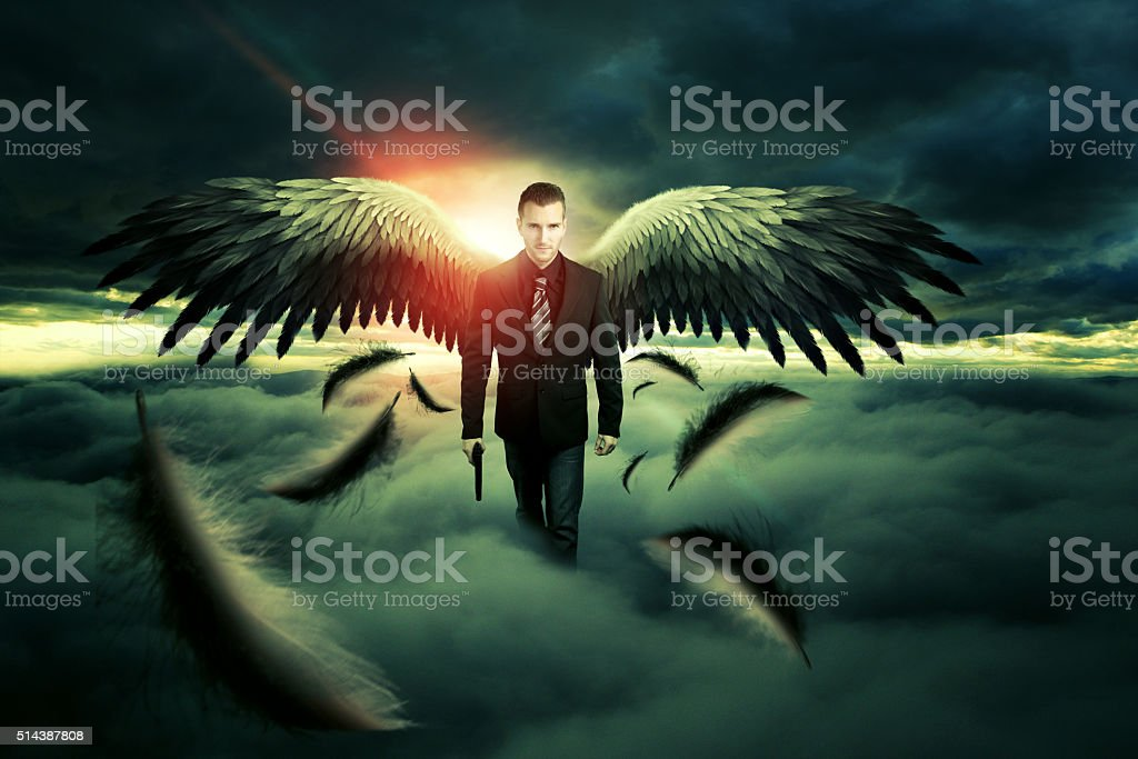 Angel of Death stock photo
