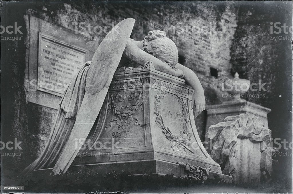 Angel of Grief stock photo