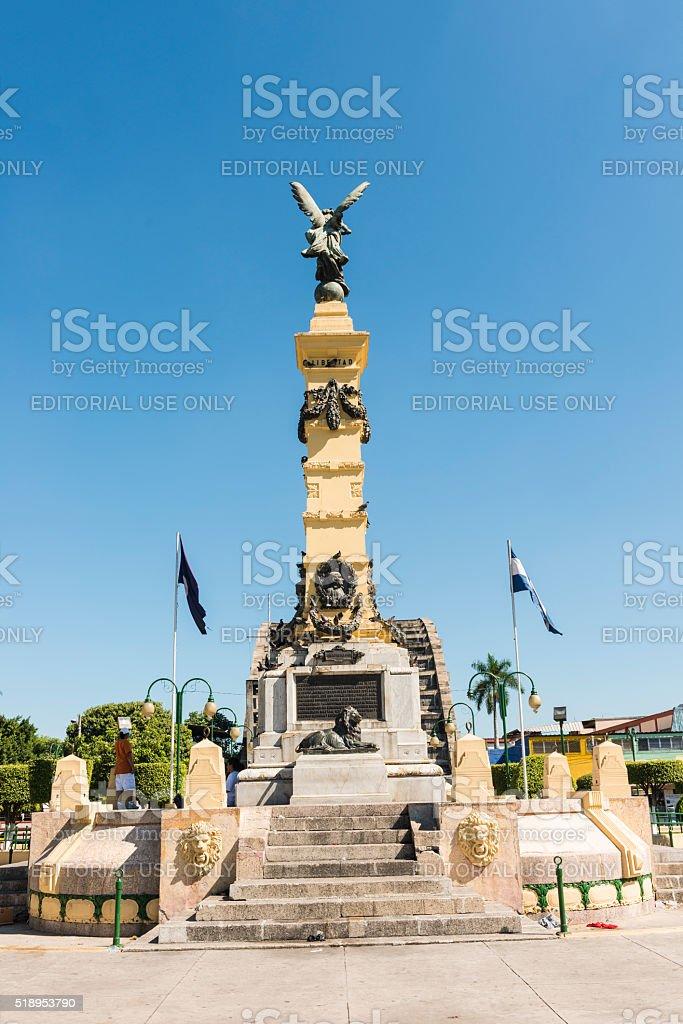 Angel of Liberty monument (1911), San Salvador, El-Salvador - stock photo