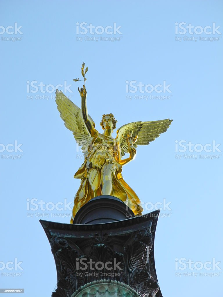 Angel of Peace in Munich, Germany stock photo
