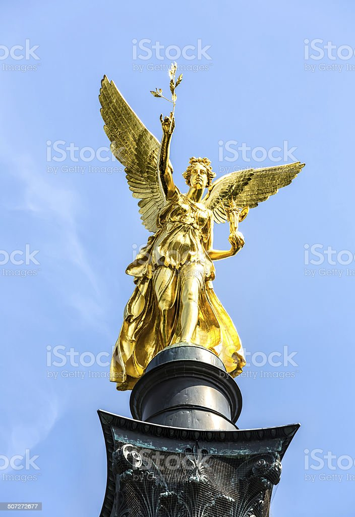 Angel of peace in Munich stock photo