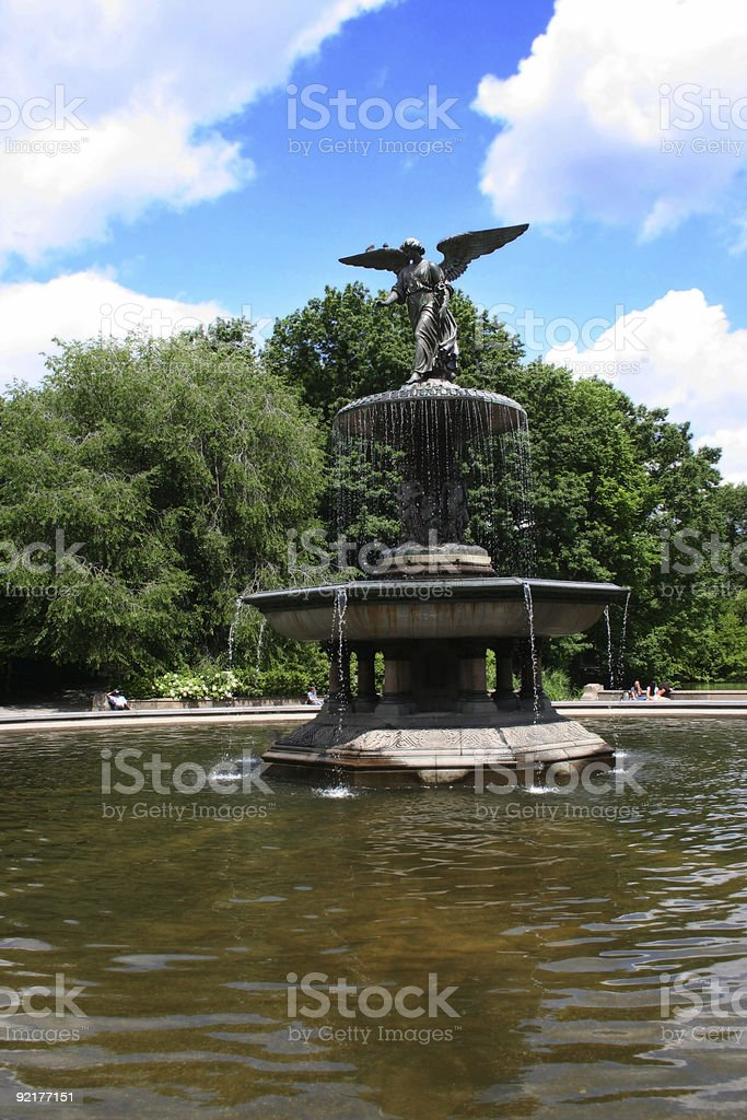 Angel Of The Waters Bethesda Fountain in Central Park, NYC stock photo
