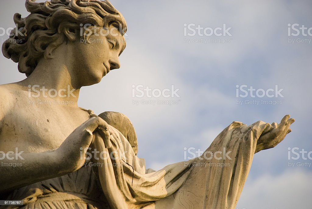 Angel offering Veil stock photo