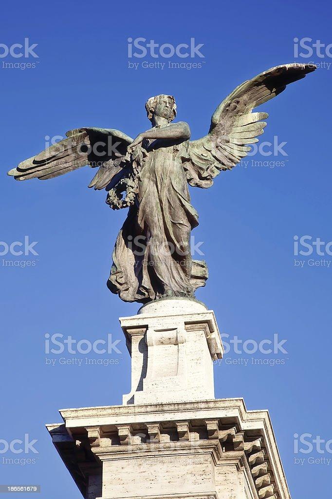 Angel on a background sky stock photo