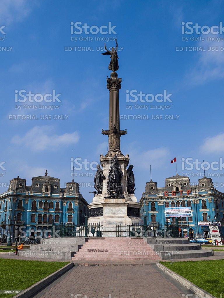 'Angel on a column Lima, Peru' stock photo